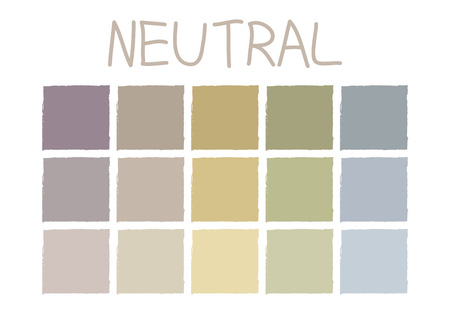 pastel color: Neutral Color Tone without Code Vector Illustration