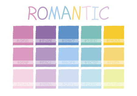 tone on tone: Romantic Color Tone with Code Vector Illustration