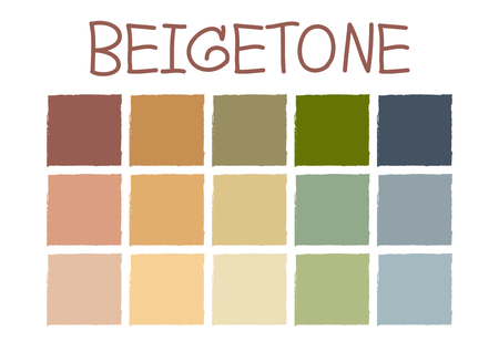 color tone: Beigetone Color Tone without Code Vector Illustration