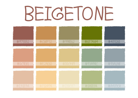 Beigetone Color Tone with Code Vector Illustration