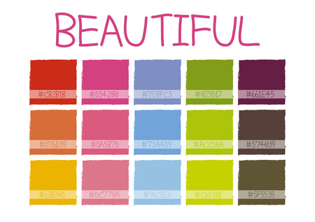 tone on tone: Beautiful Color Tone with Code Vector Illustration