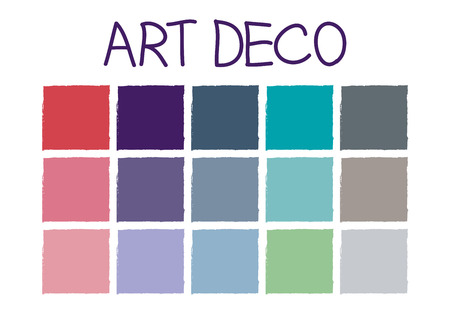 tone: Art Deco Color Tone without Code Vector Illustration