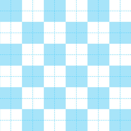 chequer: Blue White Chess Board Background Vector Illustration