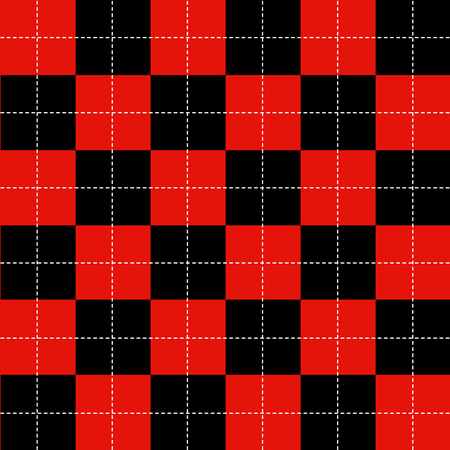 chequer: Red Black White Chess Board Background Vector Illustration