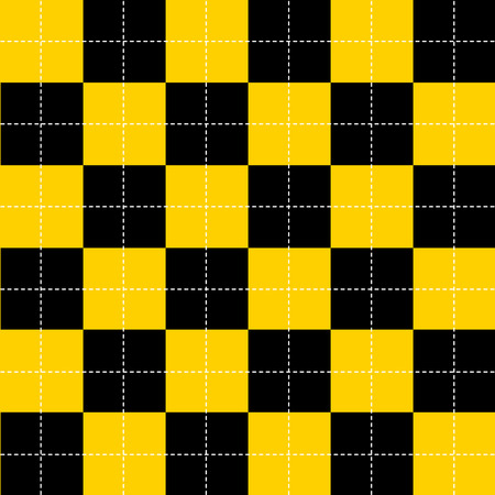 Yellow Black White Chess Board Background Vector Illustration