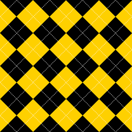 black yellow: Yellow Black White Chess Board Diamond Background Vector Illustration