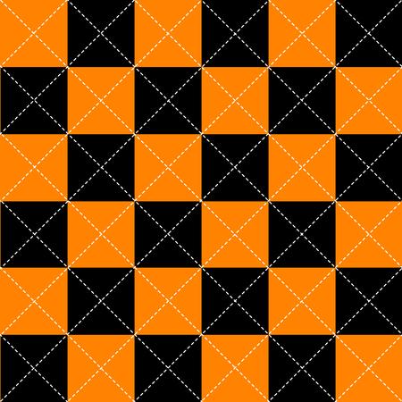 chequer: Orange Black White Chess Board Diamond Background Vector Illustration
