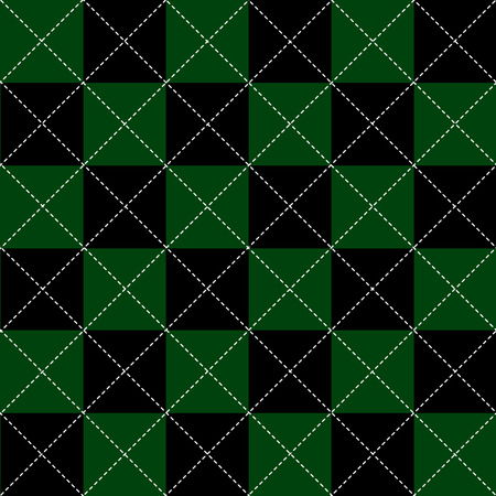 green and black: Green Black White Chess Board Diamond Background Vector Illustration