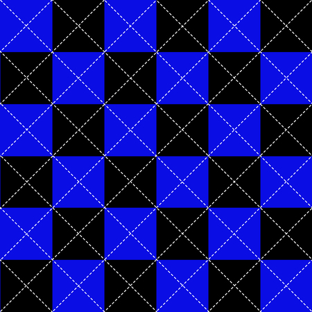 diamond background: Blue Black White Chess Board Diamond Background Vector Illustration