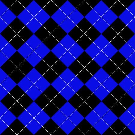 chequer: Blue Black White Chess Board Diamond Background Vector Illustration
