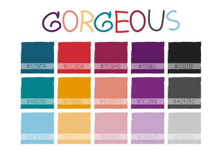 saturation: Gorgeous Color Tone with Code Vector Illustration