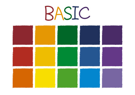 Basic Color Tone without Code Vector Illustration