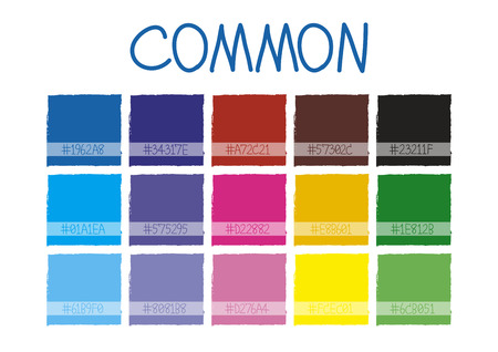 tone: Common Color Tone with Code Vector Illustration Illustration