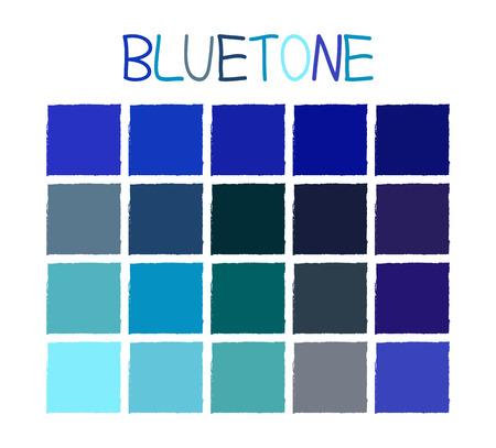 cerulean: Bluetone Color Tone without Name Vector Illustration