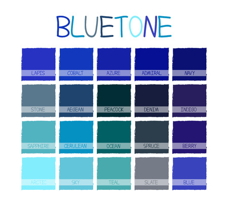 cerulean: Bluetone Color Tone with Name Vector Illustration