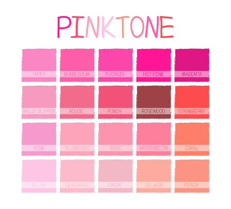 tone: Pinktone Color Tone with Name Vector Illustration Illustration