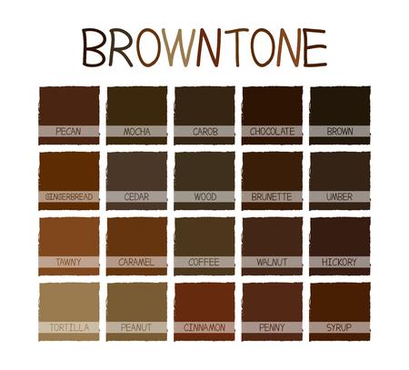 paleta de caramelo: Tono de color con Browntone Código Ilustración