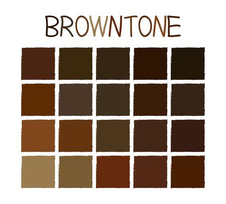 paleta de caramelo: Tono de color Browntone sin nombre Ilustración Vectores