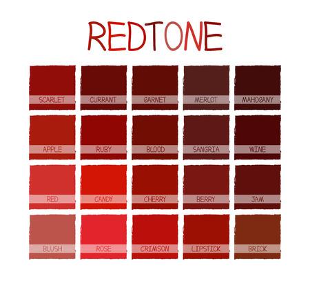 paletas de caramelo: Tono de color con nombre REDtone Ilustración