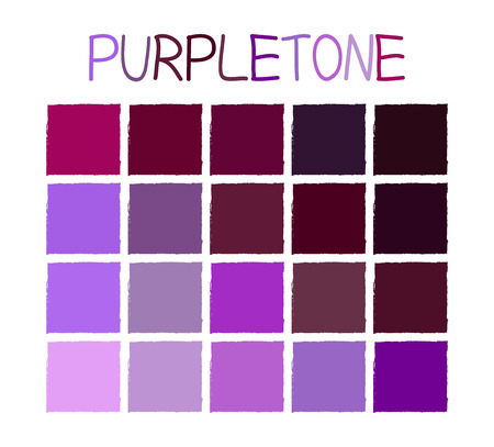 Purpletone Color Tone with Name Illustration Vetores
