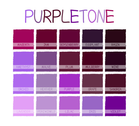 tone on tone: Purpletone Color Tone with Name Illustration