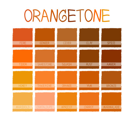 honey tone: Orangetone Color Tone with Name Illustration