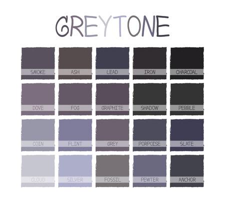 tone on tone: Greytone Color Tone with Name Illustration