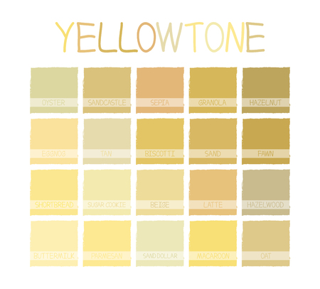 Yellowtone Color Tone with Name Illustration