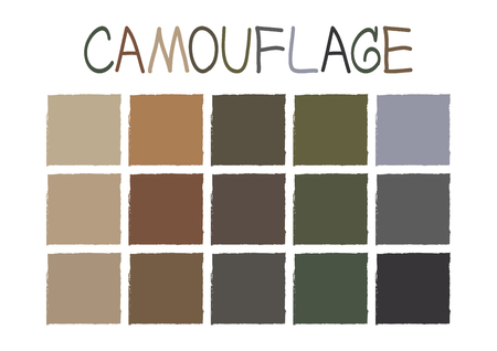 tone: Camouflage Color Tone without Name Illustration