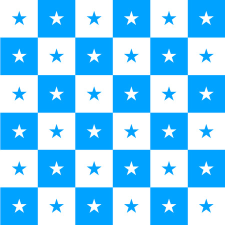 Star Blue White Chess Board Background Vector Illustration