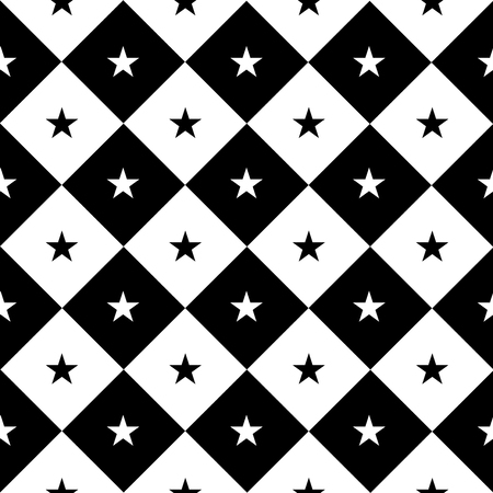 chequer: Star Black White Chess Board Diamond Background Vector Illustration