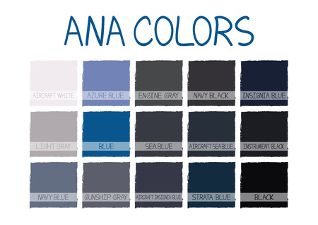 no1: ANA. Army Navy Air Force Marines Color Tone with Name Vector Illustration No.1 Illustration