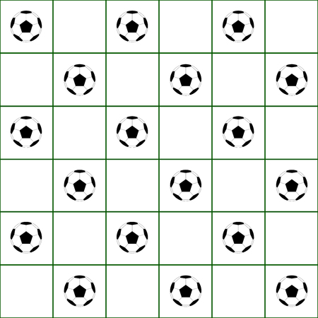 green grid: Football Ball Dark Green Grid White Background Vector Illustration Illustration