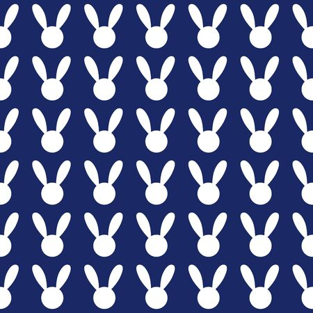 navy blue background: White Rabbit Navy Blue Background Vector Illustration