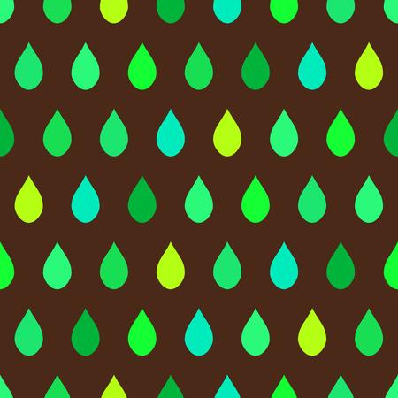 tone on tone: Green Tone Rain Brown Background Vector Illustration