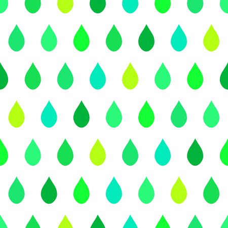 Green Tone Rain White Background Vector Illustration