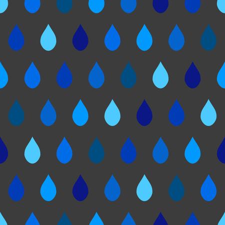 tone on tone: Blue Tone Rain Gray Background Vector Illustration