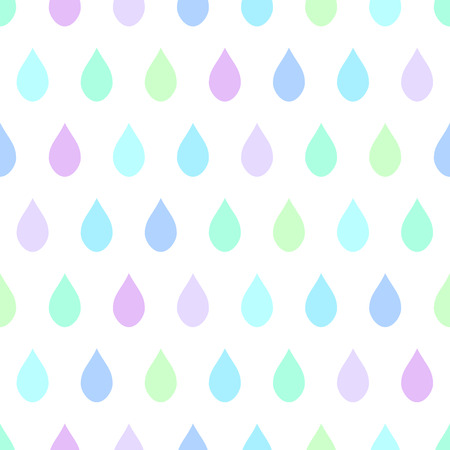 Cool Tone Rain White Background Vector Illustration