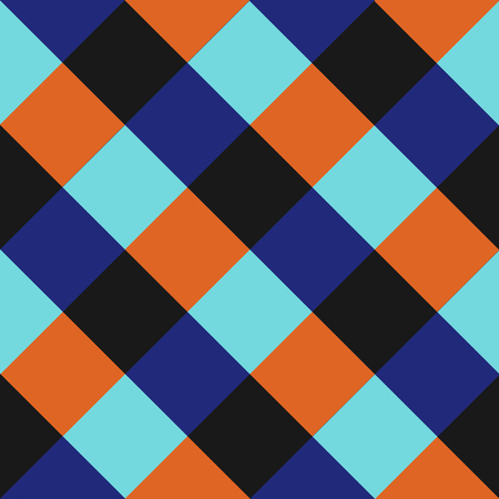 Blue Orange Chess Board Diamond Background Illustration