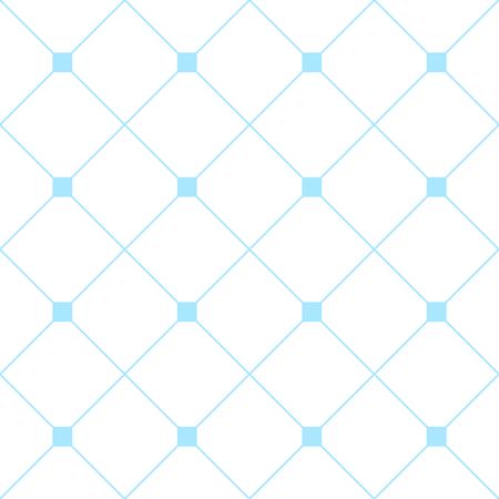 Fondo cuadrado azul claro diamante blanco de la red. Fondo clásico del modelo de la textura mínima. Ilustración