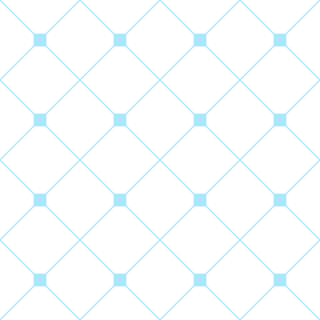 Light Blue Platz Diamant-Grid Weißer Hintergrund. Klassische Minimal-Muster-Beschaffenheit Hintergrund. Illustration