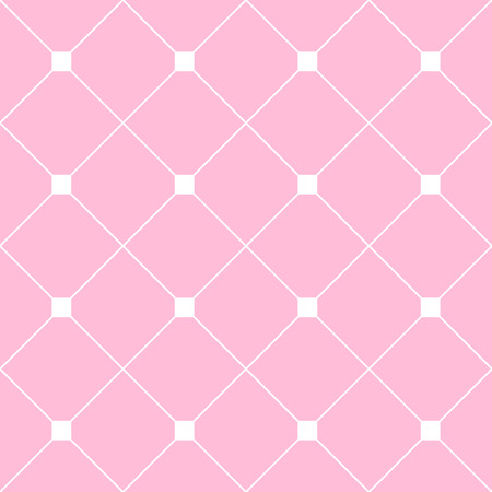 White Square Diamond Grid Light Pink Background. Classic Minimal Pattern Texture Background. Illustration Illustration
