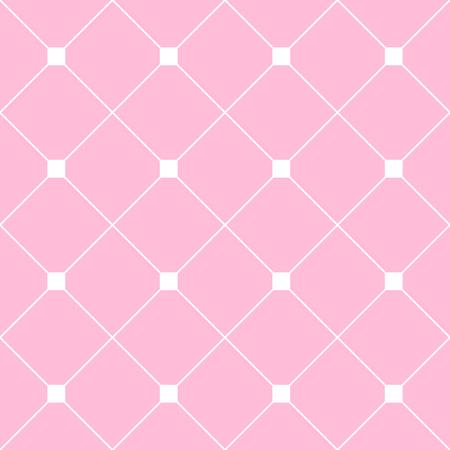White Square Diamond Grid Light Pink Background. Classic Minimal Pattern Texture Background. Illustration Ilustrace