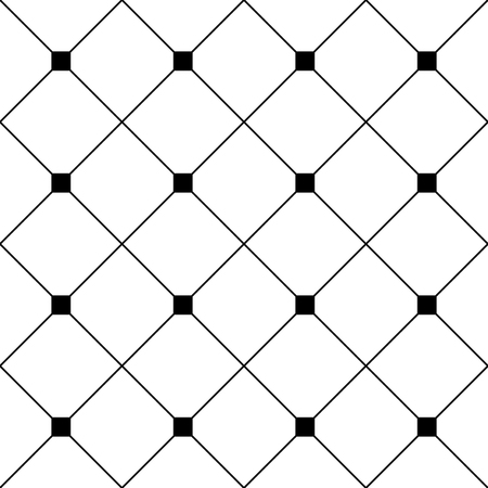 grille: Black Square Diamond Grid White Background. Classic Minimal Pattern Texture Background. Illustration