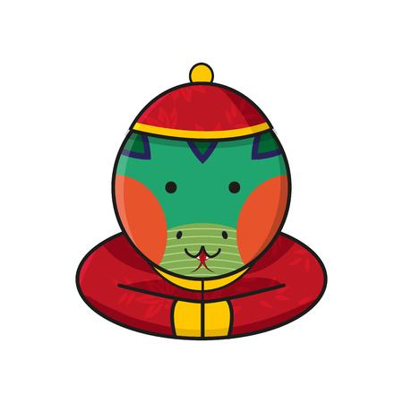snake year: Snake Chinese Happy New Year Vector Illustration Illustration