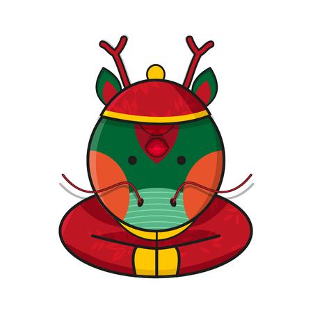 dragoon: Dragon Chinese Happy New Year Vector Illustration