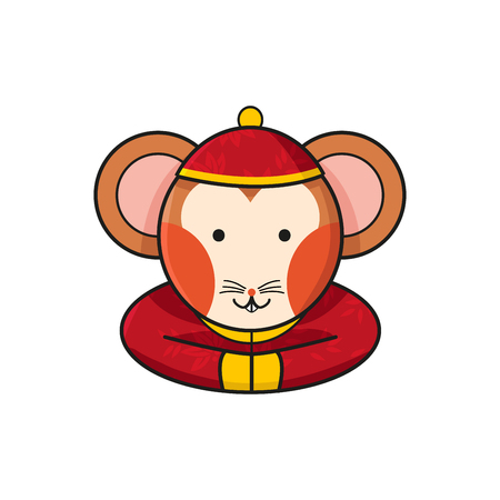 year of the rat: Rat Chinese Happy New Year Vector Illustration