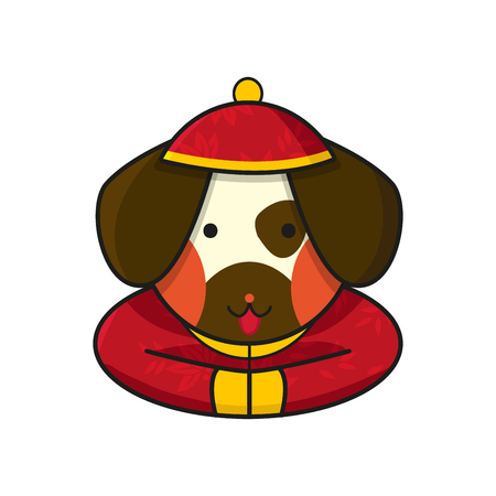 year of the dog: Dog Chinese Happy New Year Vector Illustration