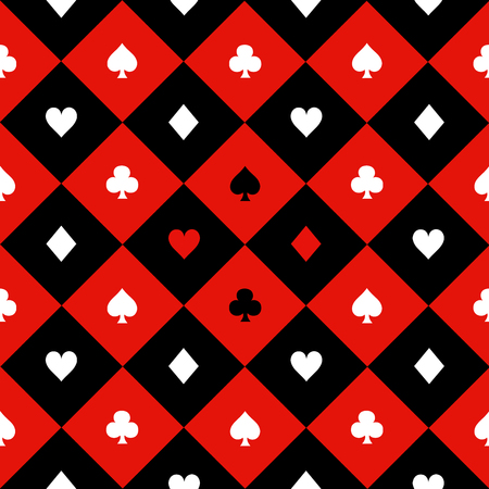 chequer: Card Suits Red Black White Chess Board Diamond Background Vector Illustration Illustration