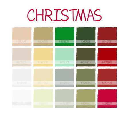 pale cream: Christmas Classic Tone Colors. Palette Scheme Vintage Colors. with Code. Vector Illustration Illustration